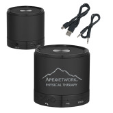 Wireless HD Bluetooth Black Round Speaker-Physical Therapy Engraved