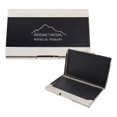 Bey Berk Carbon Fiber Business Card Holder-Physical Therapy Engraved
