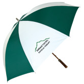 62 Inch Forest Green/White Umbrella-Physical Therapy