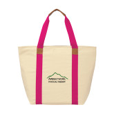 Natural/Tropical Pink Saratoga Tote-Physical Therapy