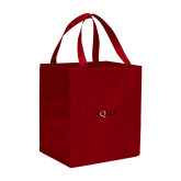 Non Woven Red Grocery Tote-AQHA