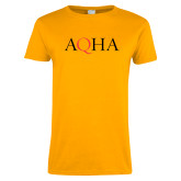 Ladies Gold T Shirt-AQHA