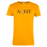 Ladies Gold T Shirt-AQHF