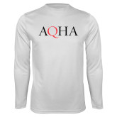 Performance White Longsleeve Shirt-AQHA