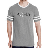 Grey Heather/White Tri Blend Varsity Tee-AQHA