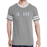 Grey Heather/White Tri Blend Varsity Tee-AQHF