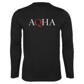 Performance Black Longsleeve Shirt-AQHA