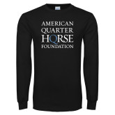 Black Long Sleeve T Shirt-American Quarter Horse Foundation