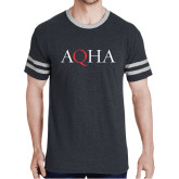 Black Heather/Grey Tri Blend Varsity Tee-AQHA