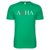 Next Level SoftStyle Kelly Green T Shirt-AQHA