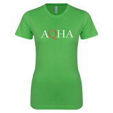 Next Level Ladies SoftStyle Junior Fitted Kelly Green Tee-AQHA