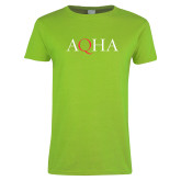 Ladies Lime Green T Shirt-AQHA