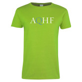 Ladies Lime Green T Shirt-AQHF