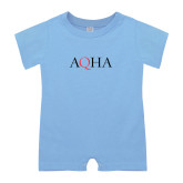 Light Blue Infant Romper-AQHA