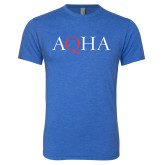 Next Level Vintage Royal Tri Blend Crew-AQHA