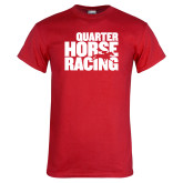 Red T Shirt-Quarter Hourse Racing Stacked