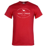 Red T Shirt-AQHA Proud with Cross