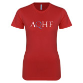 Next Level Ladies SoftStyle Junior Fitted Red Tee-AQHF