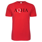 Next Level SoftStyle Red T Shirt-AQHA