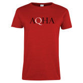 Ladies Red T Shirt-AQHA