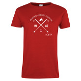 Ladies Red T Shirt-Wreath