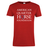 Ladies Red T Shirt-American Quarter Horse Foundation