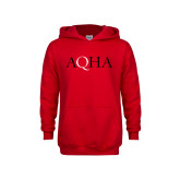 Youth Red Fleece Hoodie-AQHA