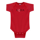 Red Infant Onesie-AQHA