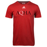 Adidas Climalite Red Ultimate Performance Tee-AQHA