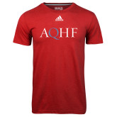 Adidas Climalite Red Ultimate Performance Tee-AQHF