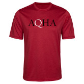 Performance Red Heather Contender Tee-AQHA
