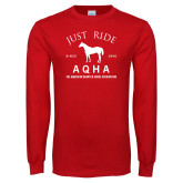 Red Long Sleeve T Shirt-Just Ride