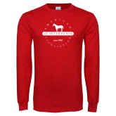 Red Long Sleeve T Shirt-Quarter House in Bar