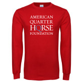 Red Long Sleeve T Shirt-American Quarter Horse Foundation