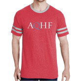 Red Heather/Grey Tri Blend Varsity Tee-AQHF