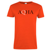 Ladies Orange T Shirt-AQHA