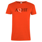 Ladies Orange T Shirt-AQHF