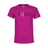 Youth Cyber Pink T Shirt-AQHA