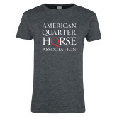 Ladies Dark Heather T Shirt-American Quarter Horse Association