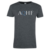 Ladies Dark Heather T Shirt-AQHF