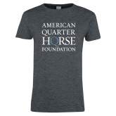 Ladies Dark Heather T Shirt-American Quarter Horse Foundation