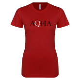 Next Level Ladies SoftStyle Junior Fitted Cardinal Tee-AQHA