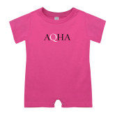 Bubble Gum Pink Infant Romper-AQHA