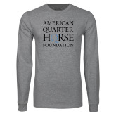 Grey Long Sleeve T Shirt-American Quarter Horse Foundation