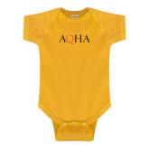 Gold Infant Onesie-AQHA