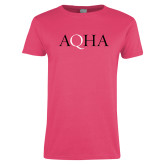Ladies Fuchsia T Shirt-AQHA