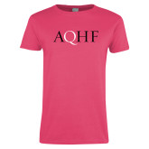 Ladies Fuchsia T Shirt-AQHF