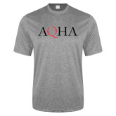 Performance Grey Heather Contender Tee-AQHA