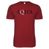 Next Level SoftStyle Cardinal T Shirt-AQHA