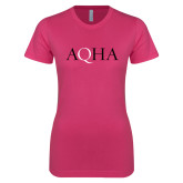 Next Level Ladies SoftStyle Junior Fitted Fuchsia Tee-AQHA